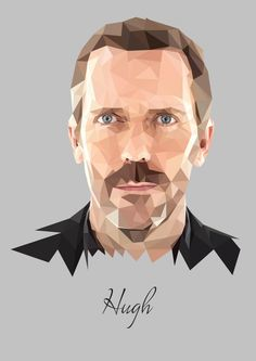 Image result for polygon portrait drawings