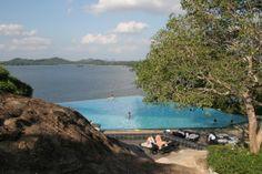 Relaxing poolside at Heritance Kandalama Sri Lanka.  www.limedays.com