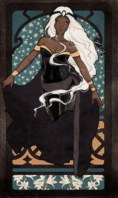Storm art nouveau - Ororo Munroe by koroa