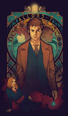 Allons-y by MeganLara ... I want this on a T-shirt! So bad! Who cares that I already have five Doctor Who shirts... I need this one!