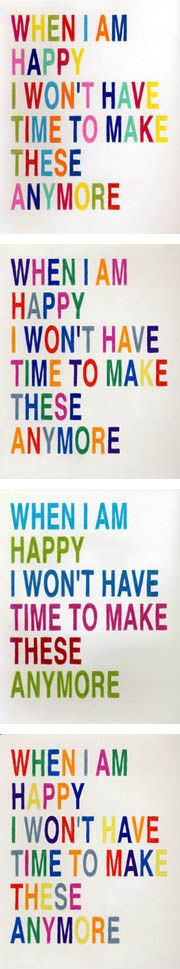 Alejandro Cesarco, When I Am Happy Drawings, 2002-ongoing; colour pencil on paper; 9 x 12 inches