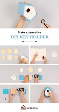 Never lose your keys again with this decorative key holder. It is the perfect addition to the entrance of your home. If you liked this project, you will sure love everything you can find at www.youjustdo.co.uk