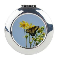 Eastern Tiger Swallowtail But Round Compact Mirror on CafePress.com