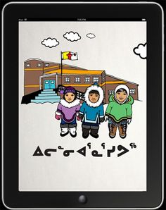 Iqaluit filmmaker Qajaaq Ellsworth's new app and educational game, Iliarnnarnaqsivuq, or Time for School, is designed to encourage learning among Inuit youngsters. Users choose an avatar, like the ones pictured here, to walk through a day at school, starting from dressing in warm Arctic gear, eating a nutritious breakfast and choosing a safe route to get to school.