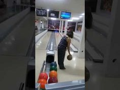 : Woman Demonstrates How Not To Bowl - Geekologie Tv Watch, Fail Video, Bowling, Humor, Funny Videos, Youtube, Woman, Cheer, Ha Ha