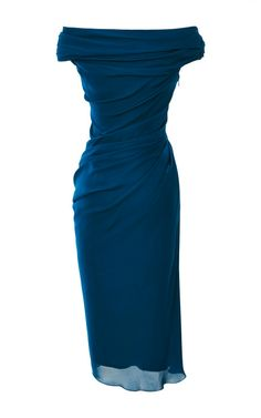 Silk Georgette Dress by Cushnie et Ochs - Love the color. It's like my favorite crayon color, cerulean.
