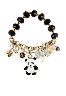 Betsey Johnson Panda Multi Charm Half Stretch Bracelet #Belk #Jewelry