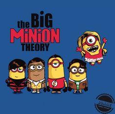 Big bang theory minion, yellow, despicable me, serie
