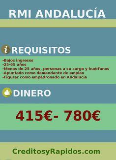 Infografía de la renta mínima de inserción social de Andalucía en 2018. Requisitos y dinero.