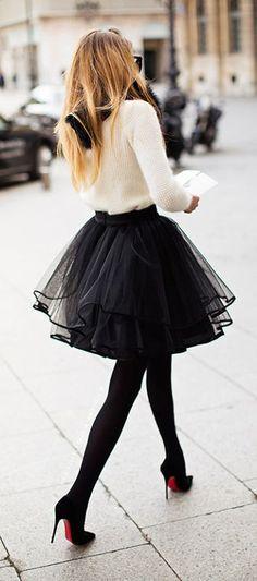 Balerina skirt - love this look! <3