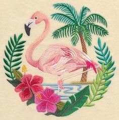 Flamingo Scene design (K9058) from www.Emblibrary.com