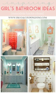 Best Diy Crafts Ideas Girls Bathroom Ideas – Inspiring Kids Bathrooms – Decorations, Remodels and Hacks on Frugal Coupon Living. Bathroom Upgrades -Read More – Girl Bathroom Decor, Diy Bathroom, Bathroom Hacks, Simple Bathroom, Master Bathroom, Bathroom Lighting, Pirate Bathroom, Houzz Bathroom, Bathroom Decals
