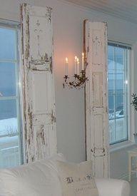 repurposing shutters | Bi-folds repurposed as Interior shutters