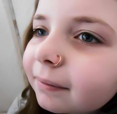 Brass Nose Ring, Nose Ring, No pierce, No pierce nose ring, brass nose hoop, body jewelry, trendy ring, unique nose ring, small hoop