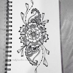 Henna Michigan - Tattoo designs by Kelly Caroline - henna Michigan artist - designs custom tattoos for women Tattoo Henna, Henna Art, Wrist Tattoo, Floral Mandala Tattoo, Snake Tattoo, Girly Tattoos, Feminine Tattoos, Blatt Tattoos, Bauch Tattoos