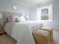 BLUE TRANSITIONAL BEDROOM