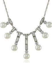 """Ben-Amun Jewelry Pearl and Crystal Baguette Necklace, 15"""""""