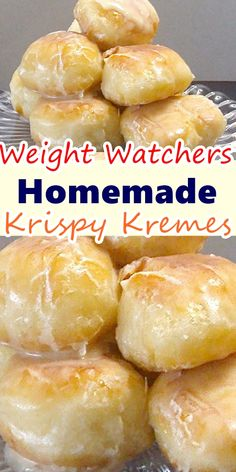 "Krispy Kreme Glazed Doughnuts are the original glazed yeast raised doughnut that made Krispy Kreme famous. I've been known to make the detour when the ""HOT"" sign is on at Krispy Kreme but since I can make them at home I've become immune to the pull of the Donut Recipes, Ww Recipes, Cooking Recipes, Waffle Recipes, Snacks Recipes, Burger Recipes, Candy Recipes, Quick Recipes, Potato Recipes"