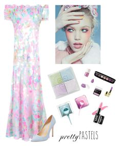 """""""Pretty in Pastel"""" by kotnourka ❤ liked on Polyvore featuring beauty, RIXO London, Schutz and Givenchy"""