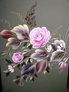 Discover recipes, home ideas, style inspiration and other ideas to try. Folk Art Flowers, Flower Art, Art Floral, Donna Dewberry Painting, Fabric Paint Designs, Tole Painting Patterns, Acrylic Painting Techniques, One Stroke Painting, Flower Images