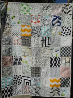 Modern I Spy Quilt by MollyRoseQuilts on Etsy