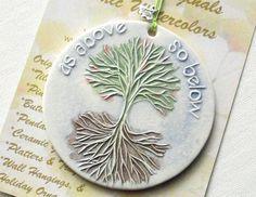 ORNAMENT handmade ceramic tree image As ABOVE by FaithAnnOriginals