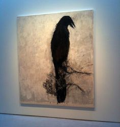 "Susan Rothenberg, ""Raven,"" 2010, oil on canvas, 87 1/2 x 75 1/8."""