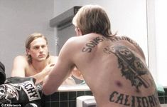 6 The tattoos from Sons of Anarchy have become iconic. Especially the back California tattoo is an image immediately recognized by the fans of the hit series all over the world.