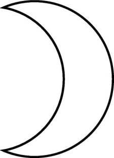 Crescent moon pattern by Eliza Fegley