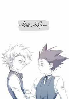Gon Freecs and killua zoldyck Hunter x Hunter cute (favorite art)