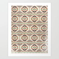 The Native Pattern Art Print by Davies Babies | Society6