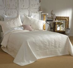 This Prudence Cream Bedspread by Bianca is a classic throw style bedspread that will surely transforms the entire room decor. It features gorgeous embroidery on Soft Textured Peach Skin Fabric. Bed Cover Sets, Bed Covers, Classic Throws, Bed Linen Sets, Beds Online, Wave Design, Queen, Bed Spreads, Comforter Sets