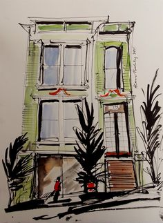 Victorian Town House, San Francisco set by Tony Underhill and sent in by Alan Bickley The Artist Magazine, Town House, Moleskine, Magazines, Exercises, San Francisco, Sketches, Victorian, Drawings