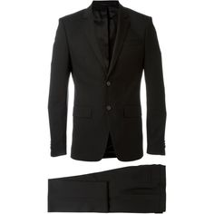 Givenchy Classic Formal Suit ($1,820) ❤ liked on Polyvore featuring men's fashion, men's clothing, men's suits, givenchy mens clothing, mens formal suits and mens wool suits