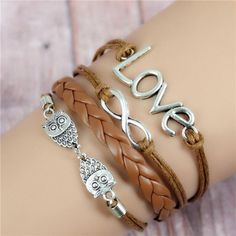 Multilayer Braided Bracelets With Various Charms