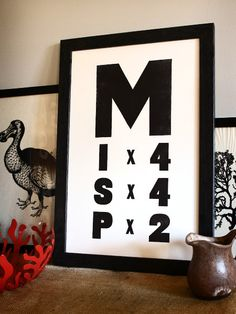 Man of Letters // Mississippi Letterpress Print on 100% Cotton // Old Try // $42
