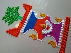 Easy Rangoli Designs Diwali, Rangoli Designs Latest, Simple Rangoli Designs Images, Rangoli Designs Flower, Small Rangoli, Rangoli Designs With Dots, Flower Rangoli, Rangoli With Dots, Beautiful Rangoli Designs