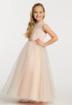 Sequin Tulle Flower Girl Dress from Camille La Vie and Group USA