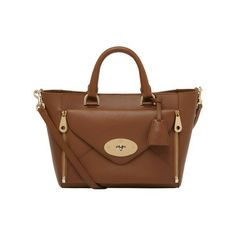 New Willow Colours - Mulberry - Small Willow Tote in Oak Silky Classic Calf