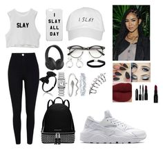 """""""Watch me Slay"""" by cams-cloud on Polyvore featuring Poetic Justice, River Island, NIKE, Michael Kors, Beats by Dr. Dre, Miss Selfridge, Cartier, Harry Winston, Smashbox and Trish McEvoy"""