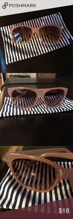 Gap sunglasses. NWOT. Original pouch included. Gap women's sunglasses. Worn once. Taupe frame brown lenses. Super cute and well cared for. GAP Accessories Sunglasses