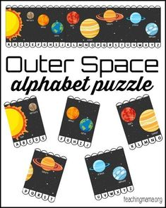 Outer Space Alphabet Puzzle - free printable!