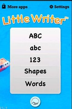 Little Writer is a great introductory app for kids learning how to write. The home menu allows kids to choose whether to practice uppercase letters, lowercase letters, numbers, shapes, or words. Kids can either trace with their finger or use a stylus to help them transition to paper and pencil. Recommended for ages 3-6 years old. Compatibility: Requires iOS 4.3 or later. Compatible with iPhone, iPad, and iPod touch. Price: Free