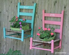 Grow Love hanging chair garden planters