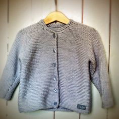Knitted kiddies cotton cardigan