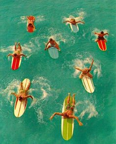 Check out these vintage surfboards. Who knows how to surf? http://www.adoreme.com