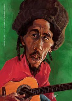 Caricatura de Bob Marley.