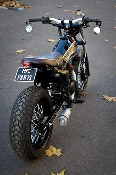 MFC Paris custom Van Van @thisiskenson #bratstyle #motorcycles #motos | caferacerpasion.com