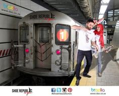 Choose a wall mural , public, urban - subway train. PIXERS wall murals made of great fabrics. Choose artistic photos from our catalog. Pumped Up Kicks, Train Tracks, Photo Wallpaper, Wall Murals, Recreational Vehicles, September 2013, Nyc, Pumps, Shoes