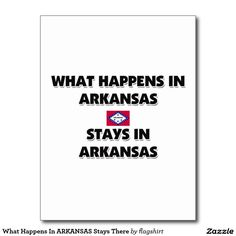 What Happens In ARKANSAS Stays There Postcard